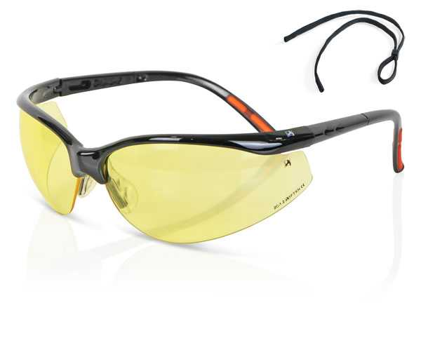 Yellow lens safety specs high performance ZZ0020Y
