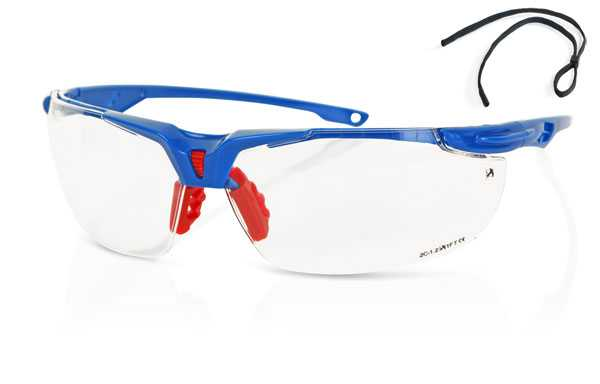 Sports style clear lens safety specs