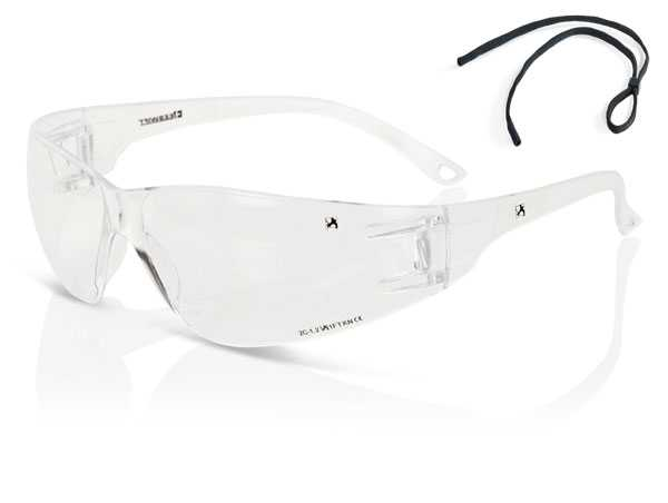 Clear wrap around safety specs high performance ZZ0090