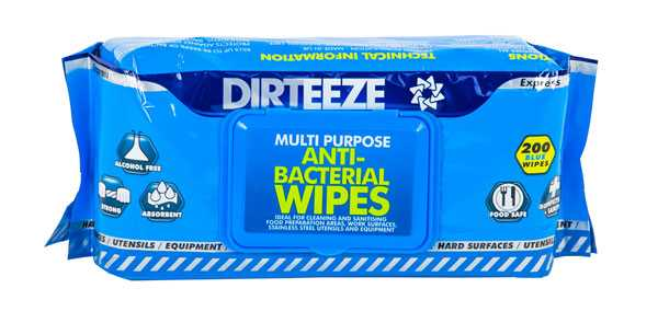 Anti-Bacterial Wipes (Soft Pack) DZAB200