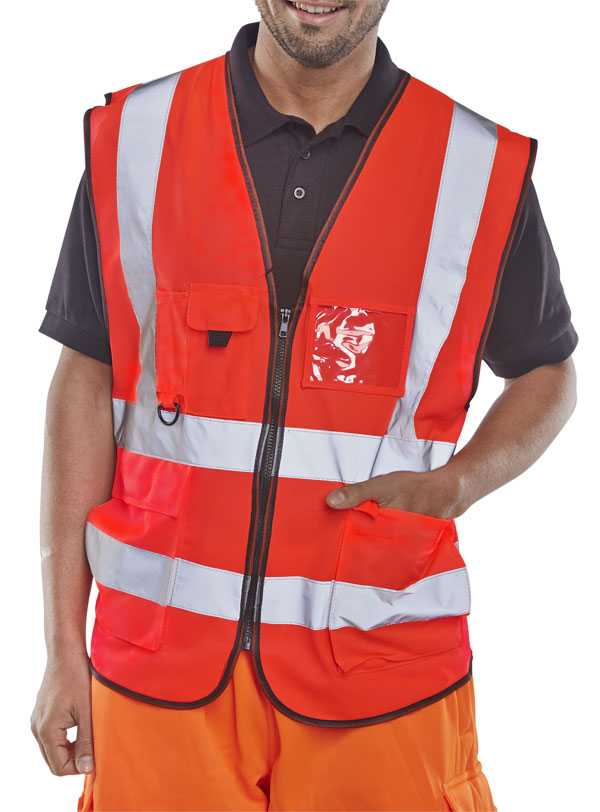 Hi Vis Executive Vest Red WCENGEXECRE